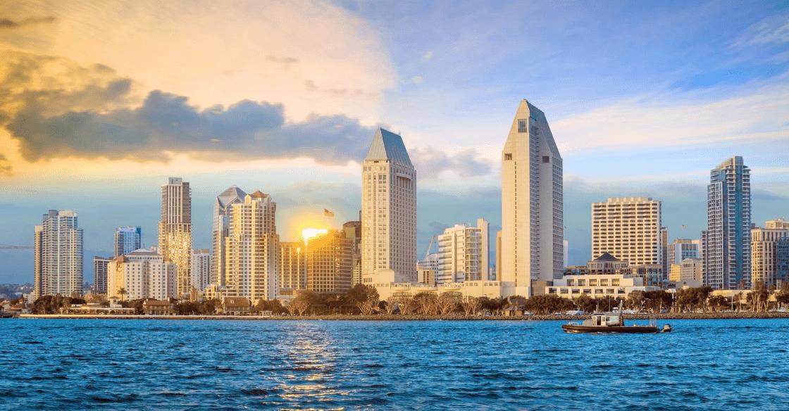 Sunny San Diego skyline