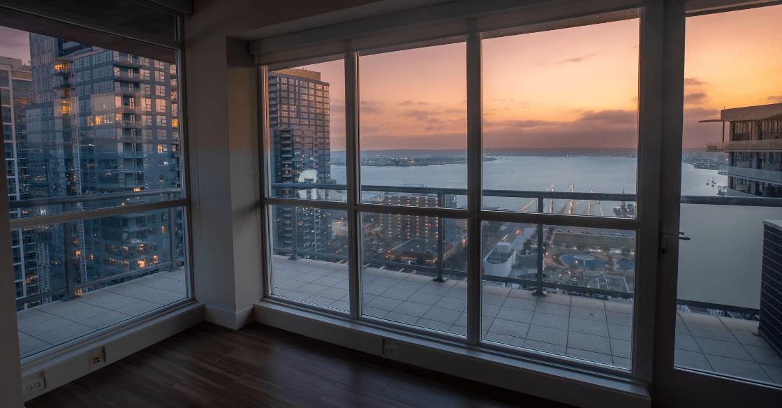 Ariel Apartment views, San Diego
