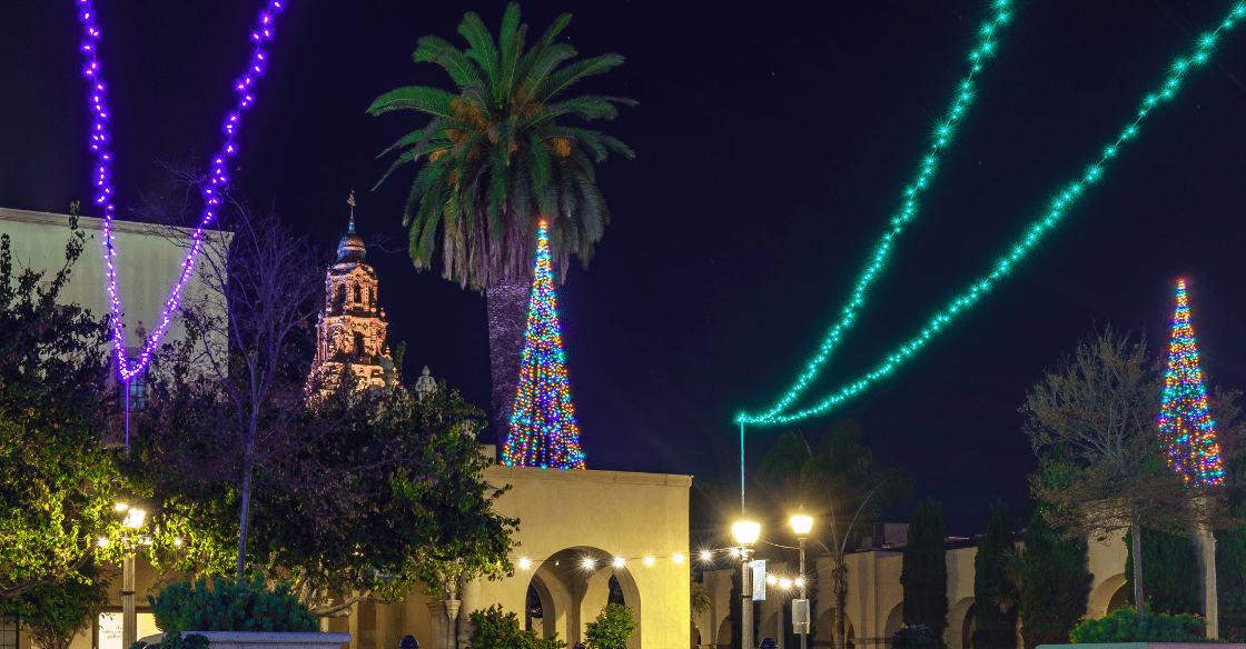 Balboa Park, San Diego during the holidays