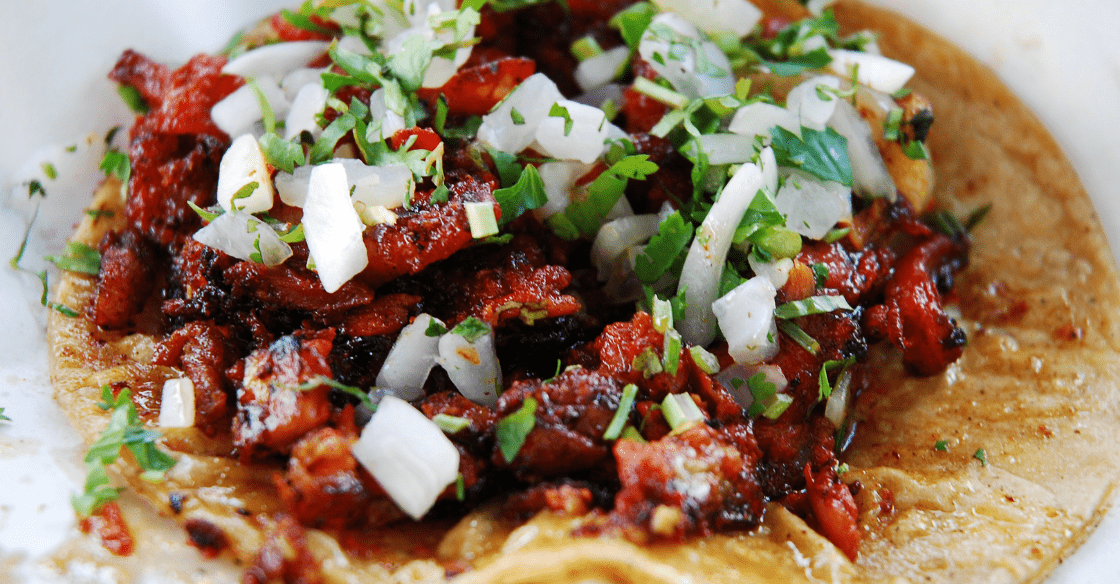 Tijuana-style taco