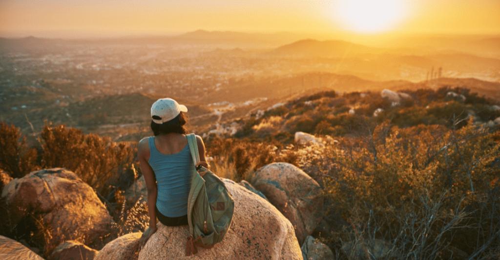 Woman hiking in San Diego