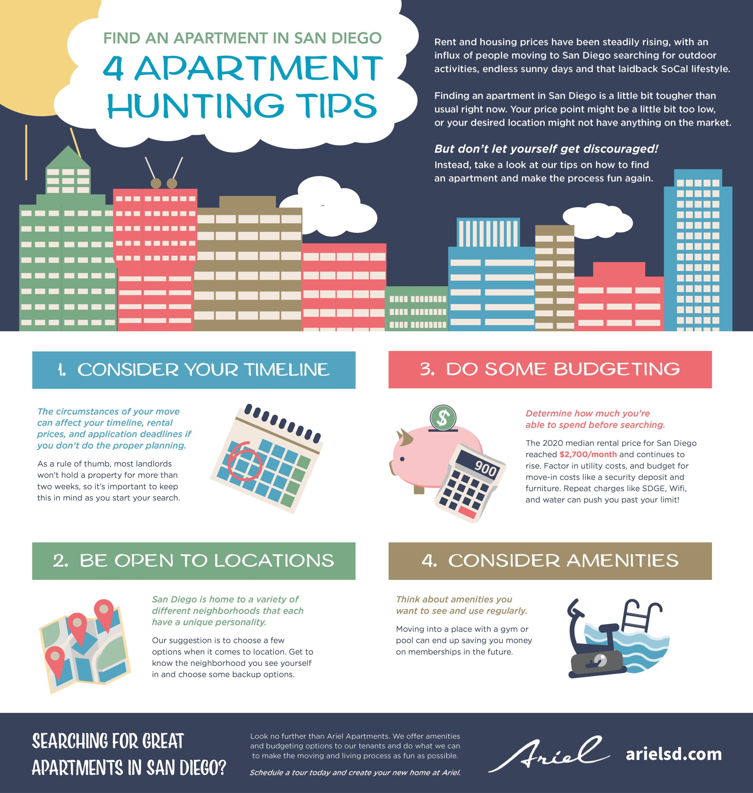 Apartment hunting tips in San Diego - Infographic