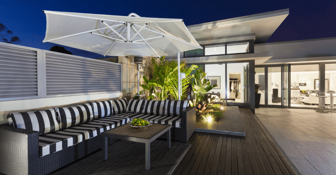Penthouse apartment with lots of outdoor space
