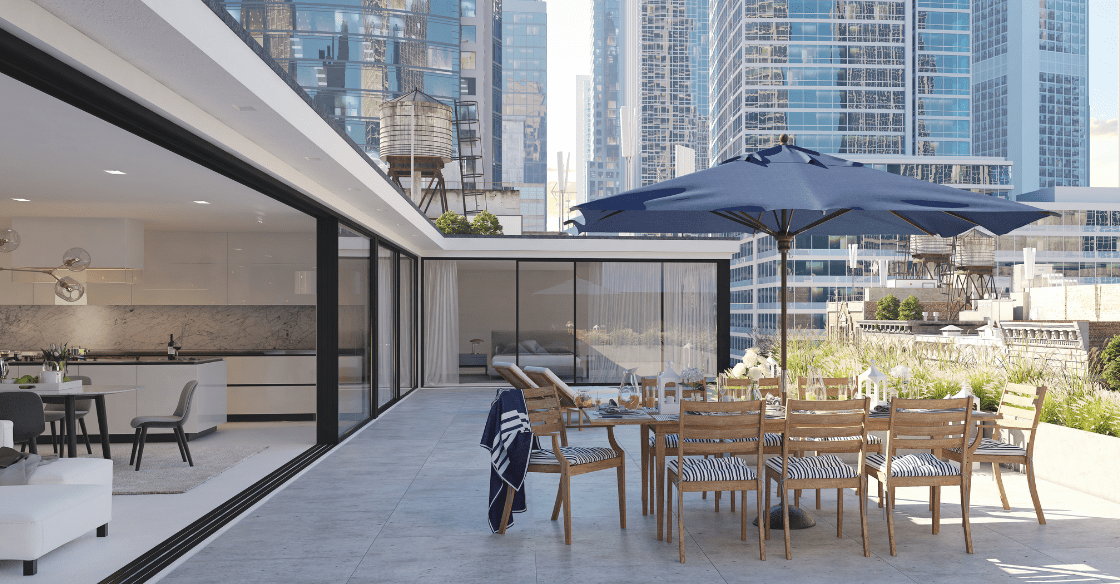 penthouse apartment with indoor/outdoor space